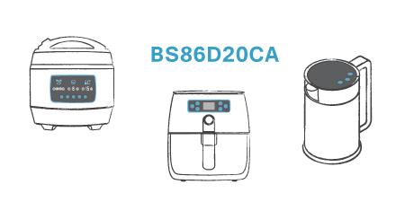 HOLTEK New BS86D20CA High Noise Immunity A/D Touch MCU